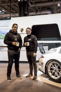 Ragnar Schulte (General Manager, Marketing, Porsche Cars Great Britain) with Tubbs Wanigasekera (Managing Director, Sacred)